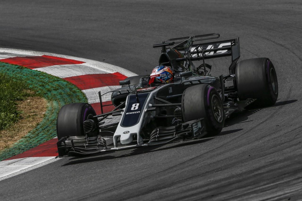 オーストリアGP決勝でのグロージャン