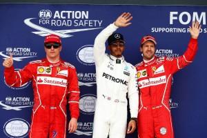2017年F1第10戦イギリスGP 予選 ルイス・ハミルトンがポールポジションを獲得