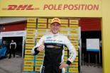 ポールポジションを獲得したニッキー・キャッツバーグ(ボルボS60 WTCC)