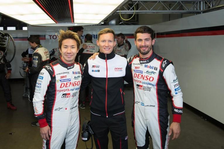 ポールポジションを獲得した7号車トヨタの小林可夢偉、マイク・コンウェイ、ホセ-マリア・ロペス