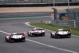 レース序盤は2台のポルシェ919ハイブリッドと7号車トヨタTS050ハイブリッドが僅差の首位争いを展開