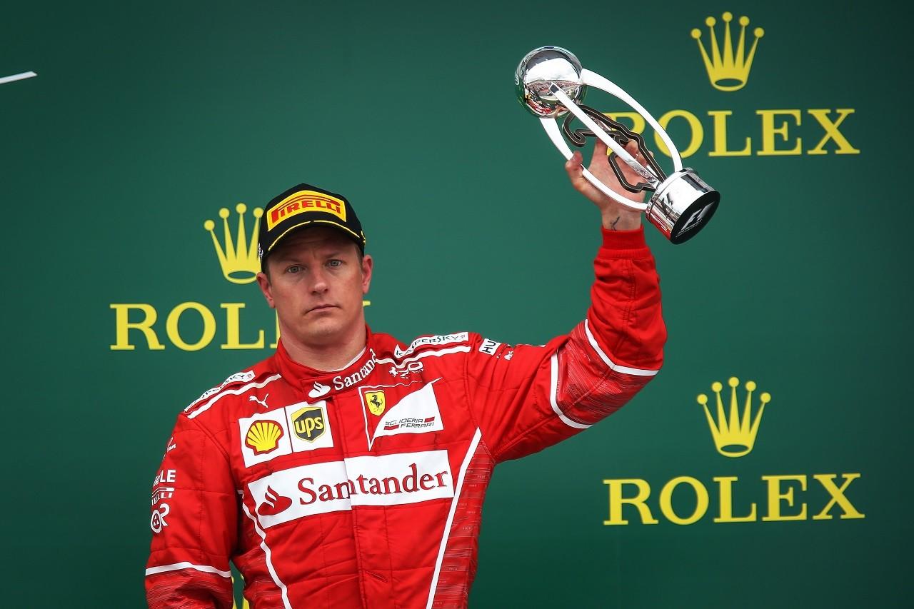 2017年F1第10戦イギリスGP キミ・ライコネン(フェラーリ)、終盤タイヤにトラブルも3位を獲得