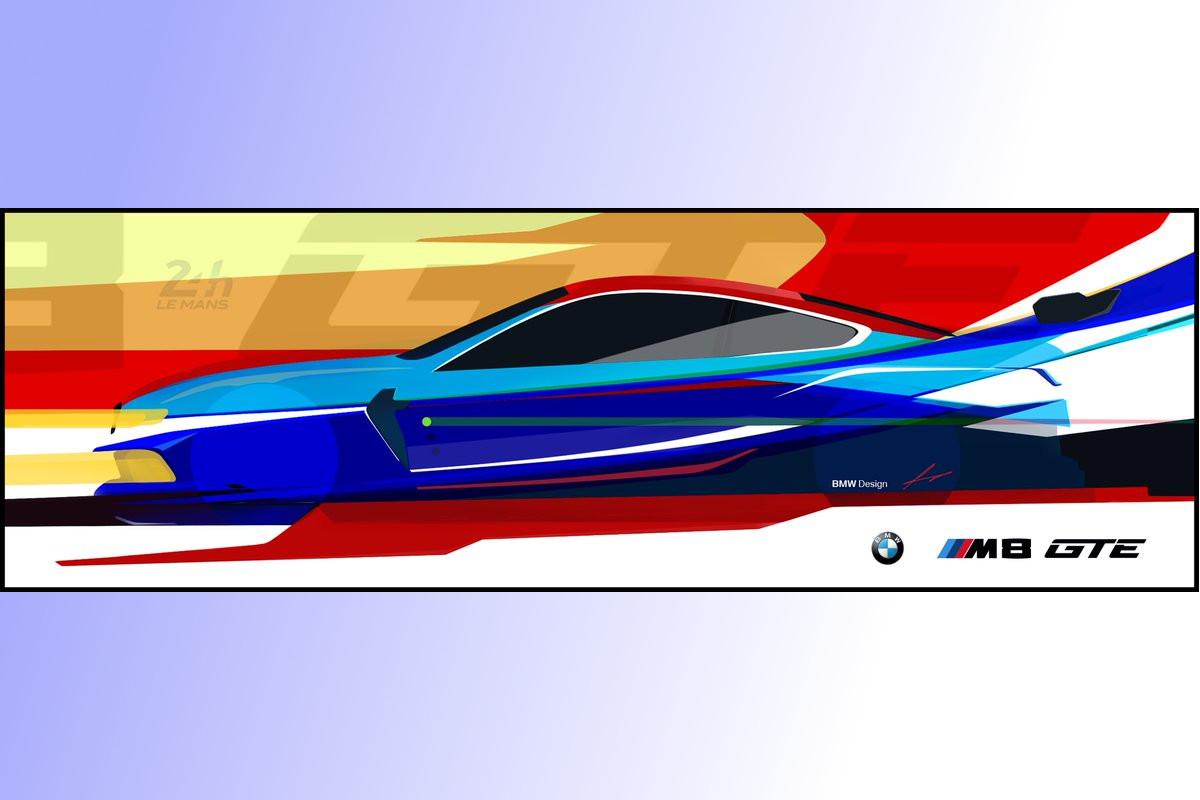 BMW、WEC投入へ向けて開発中の『M8 GTE』イメージイラストを公開
