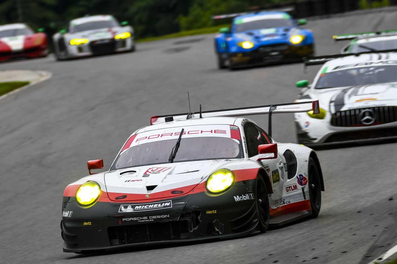 IMSA:GTオンリーの第8戦は新型ポルシェがワン・ツー。GTDのレクサス好走も終盤失速