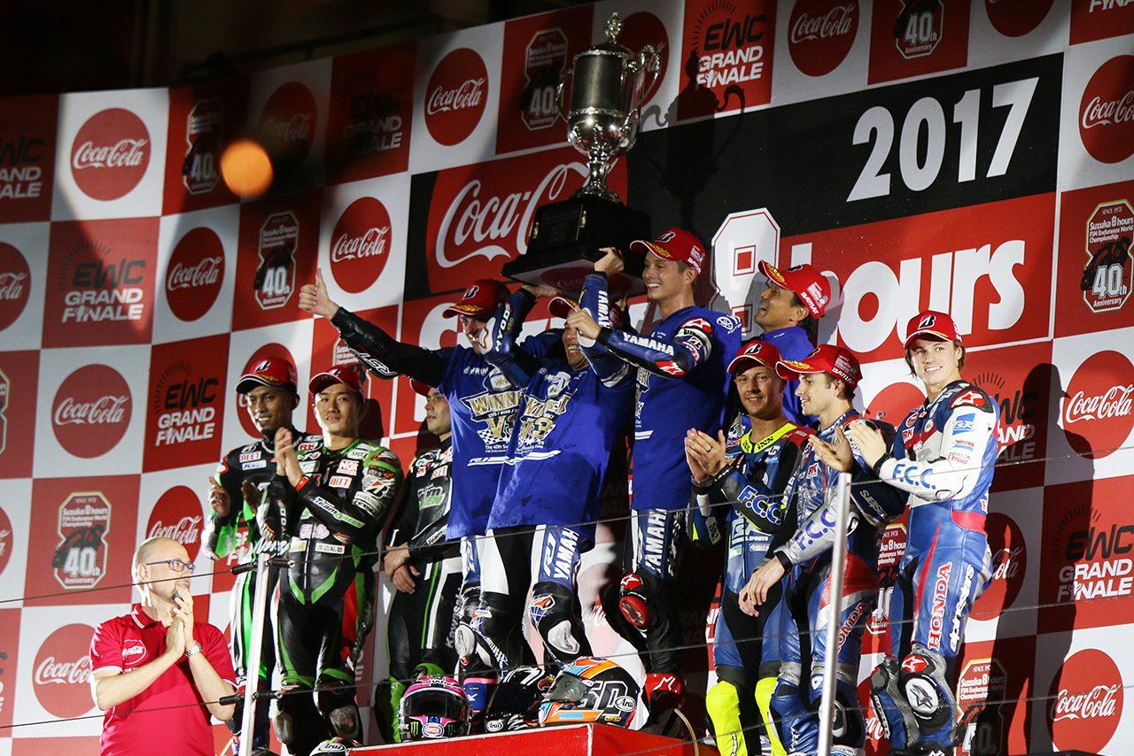 2017鈴鹿8時間耐久ロードレース表彰台