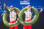 母国フィンランドで自身初のWRC優勝を飾ったエサペッカ・ラッピ(トヨタ・ヤリスWRC)