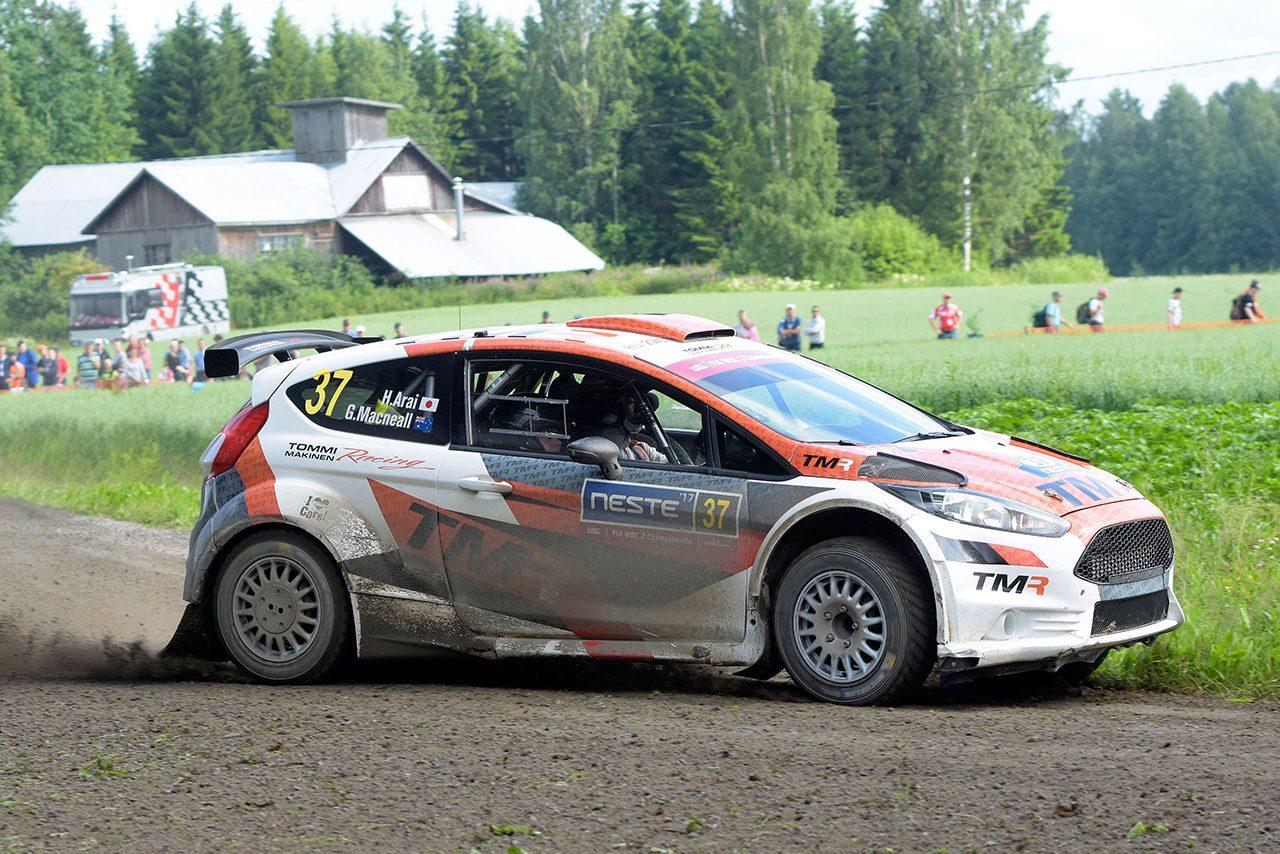 2度目のラリー・フィンランドに挑んだ新井大輝と勝田貴元、速さみせるも完走ならず