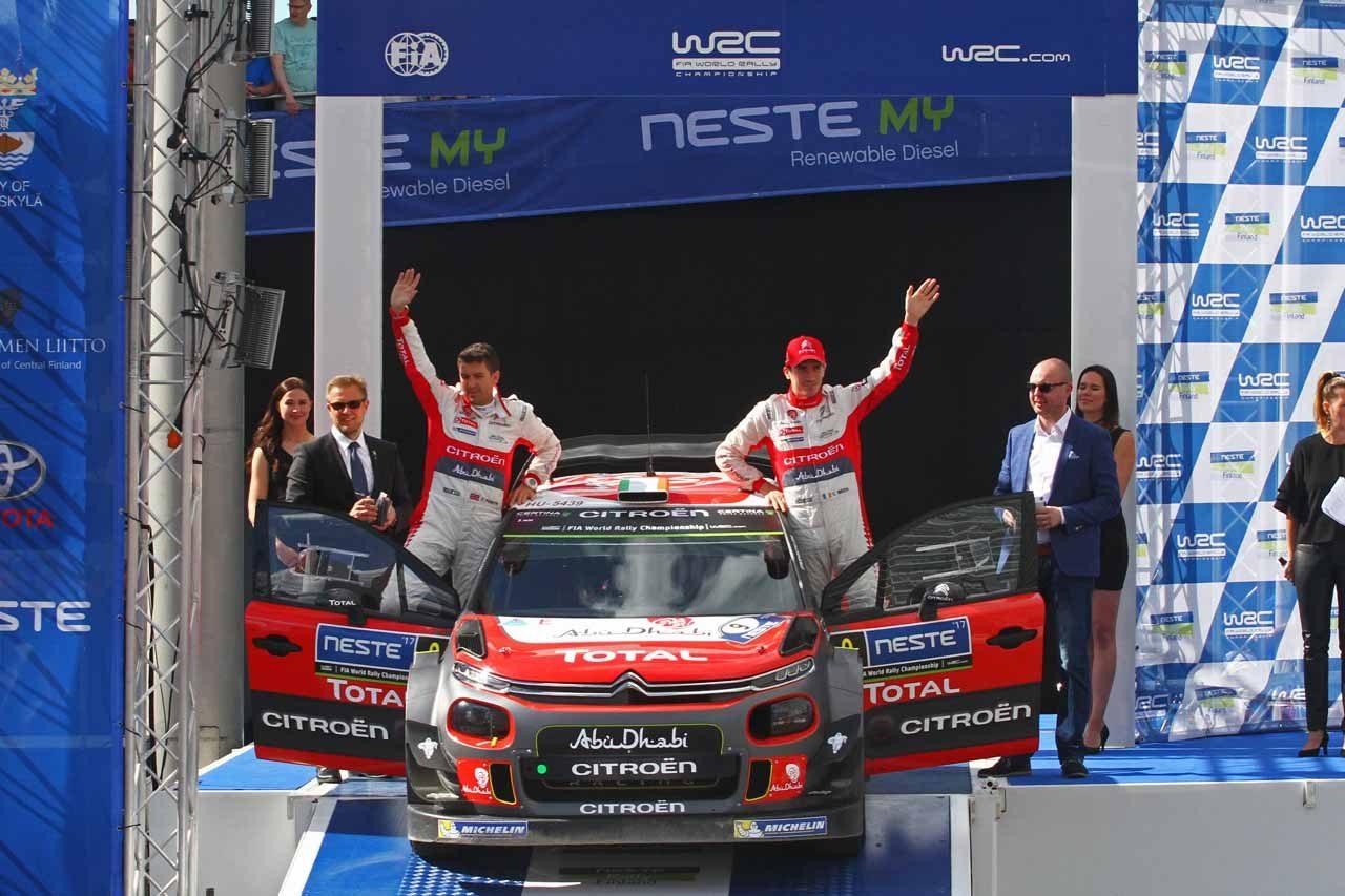 シトロエン 2017年WRC第9戦フィランド ラリーレポート