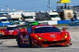 セブリング12時間レースで3位表彰台を獲得した62号車フェラーリ488 GTE