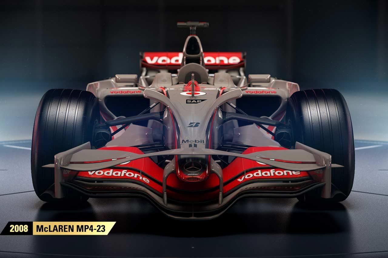 マクラーレン歴代王者マシン4台も収録。『F1 2017』、注目のクラシックF1カー全11台発表