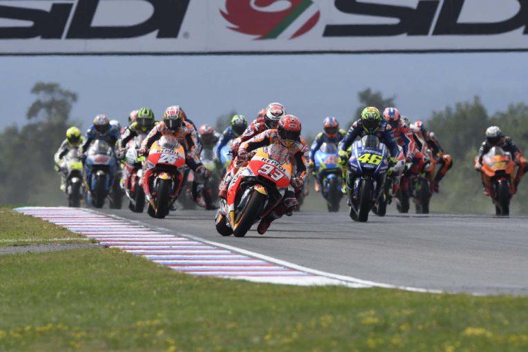 MotoGP第10戦チェコGPスタートシーン