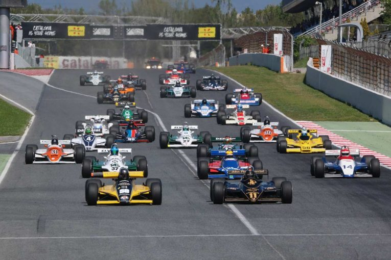 バルセロナで行われたヒストリックF1選手権の様子