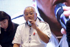 共同記者会見に出席したGTAの坂東正明代表