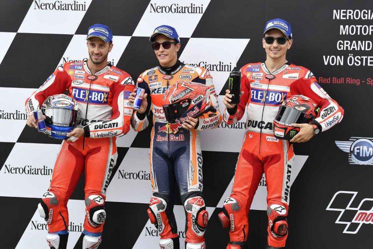 2017MotoGP 第11戦オーストリアGP予選トップ3