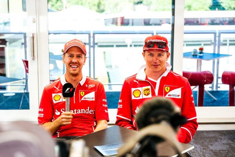 """F1   ライコネン「ベッテルを""""トウ""""で助けたのは僕自身の判断」:フェラーリ F1ベルギーGP予選"""