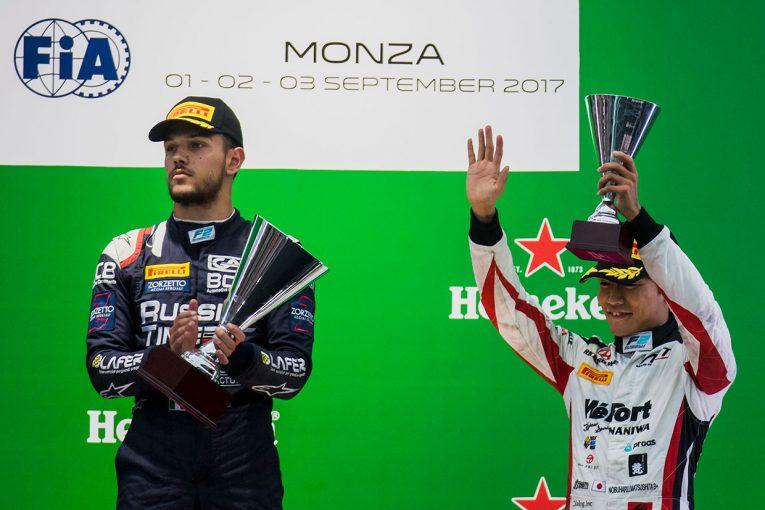 海外レース他 | F2イタリア決勝レース1:ポールスタートの松下信治は繰り上がりで2位表彰台