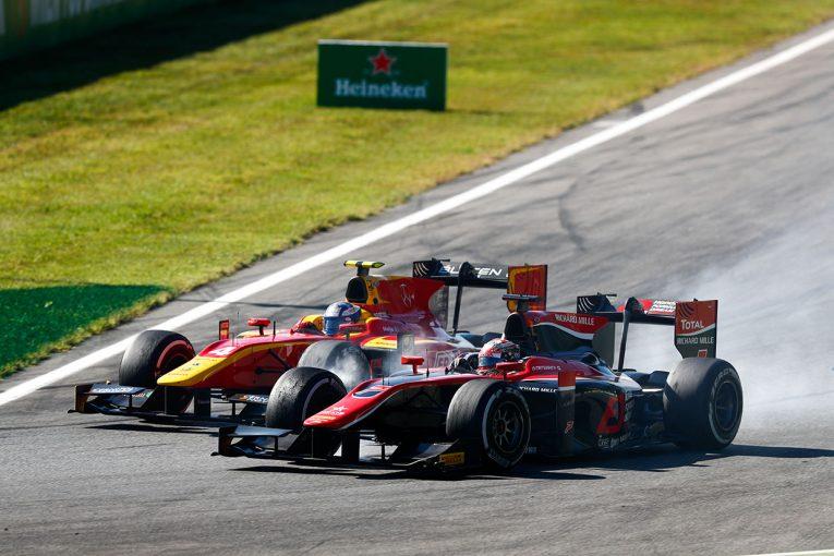 海外レース他   FIA F2イタリア決勝レース2:後方から追い上げギオットが優勝。松下は7位入賞