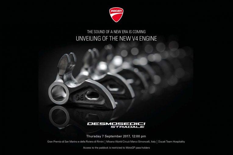 MotoGP | ドゥカティ、MotoGPサンマリノGP前の9月7日に新型V4エンジンを発表