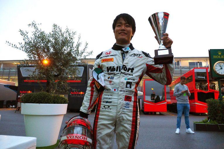 海外レース他 | FIA F2イタリア:絶体絶命の状況から起死回生の2位。ランキング6位に浮上した松下信治