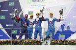 LMP2クラス表彰式 2017年WEC第5戦メキシコ