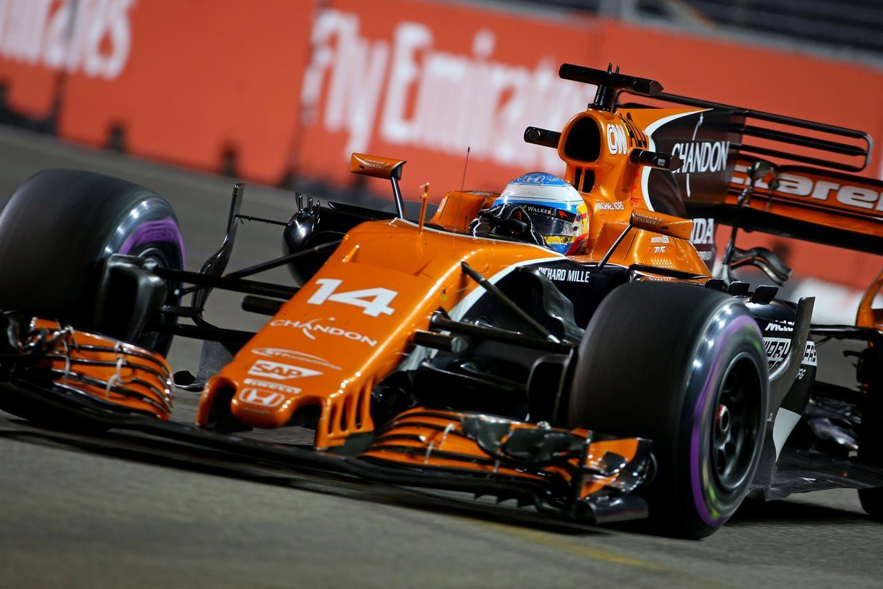 2017年F1第14戦シンガポールGP フェルナンド・アロンソ(マクラーレン)