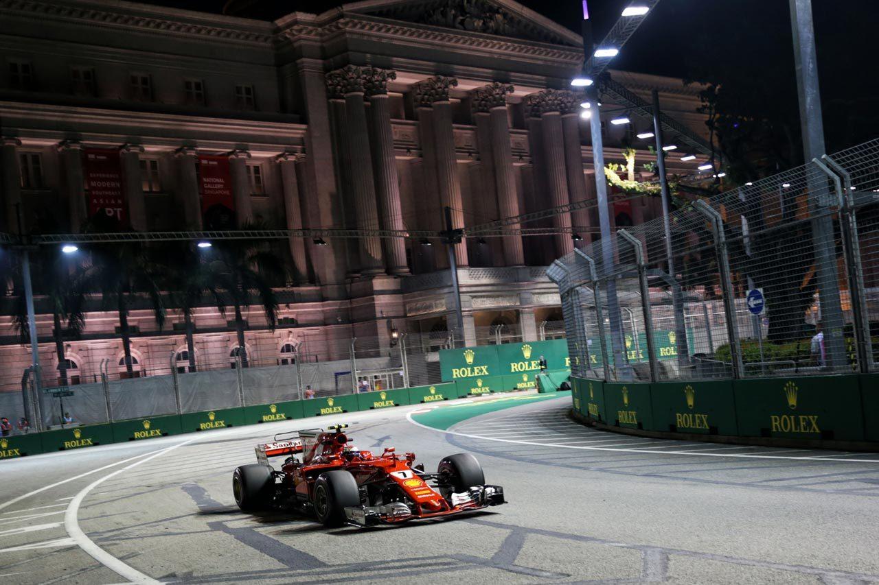 2017年F1第14戦シンガポールGP キミ・ライコネン(フェラーリ)