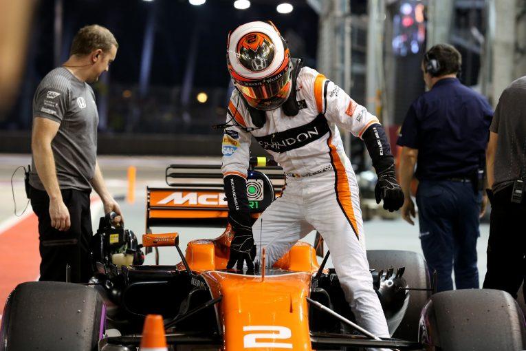 F1 | バンドーン「Q3でタイムの向上がなく、ライバルに置いていかれた」マクラーレン・ホンダF1シンガポール土曜