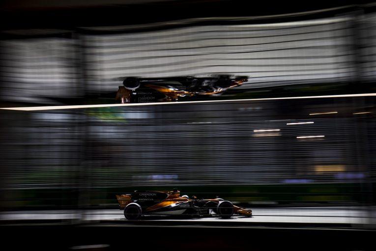 F1   マクラーレン「上位で戦うふたりを見られてうれしい。チームのポテンシャルを再確認できた」/F1シンガポール土曜