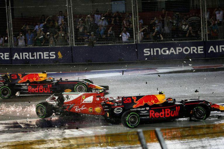 F1 | F1シンガポールGP決勝:フェラーリ全滅、完走12台のサバイバルレースでハミルトン優勝