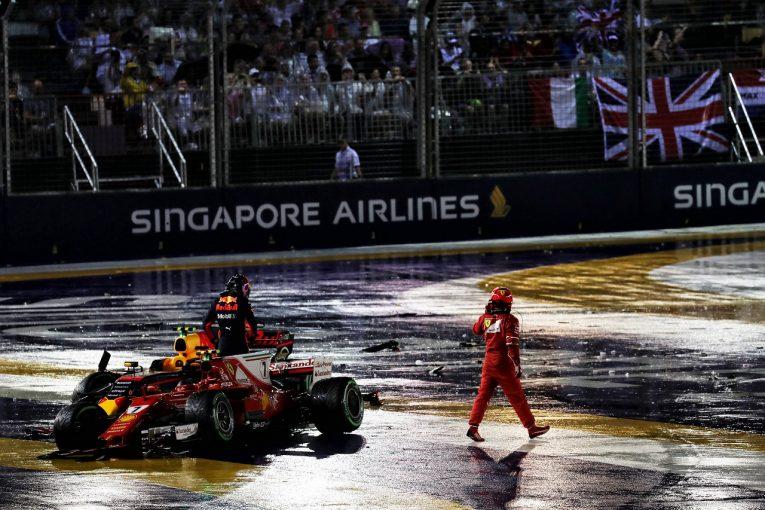 F1 | 事故に関するフェラーリの発言にレッドブルが猛反発。「マックスが悪いと言うなら目の検査をした方がいい」