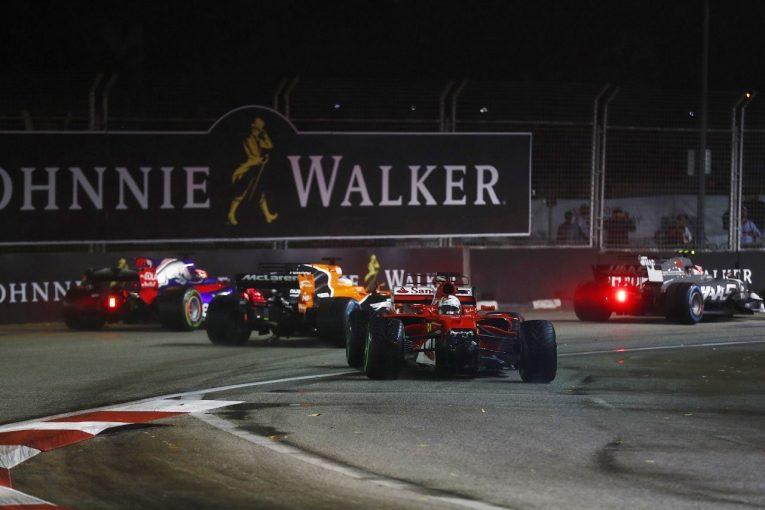 F1   ベッテル「キミがぶつかったのは見えたが、いったい何が起きたのかよく分からない」:フェラーリ F1日曜