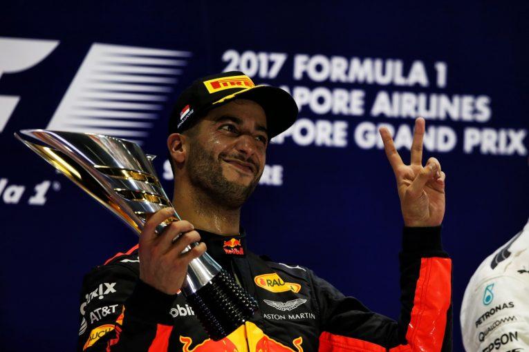F1 | リカルド2位「後から聞いたら深刻なトラブルが起きていた」:レッドブル F1シンガポール日曜