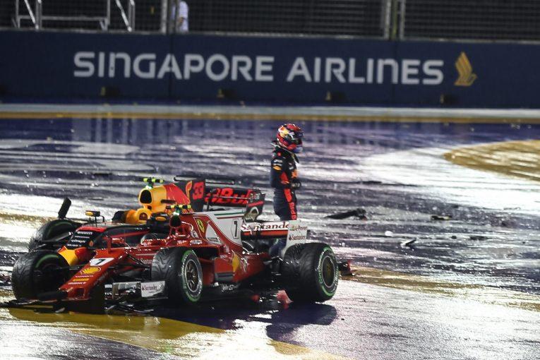 F1 | フェルスタッペン「フェラーリにサンドイッチされてリタイア。速さを生かせなかった」レッドブルF1