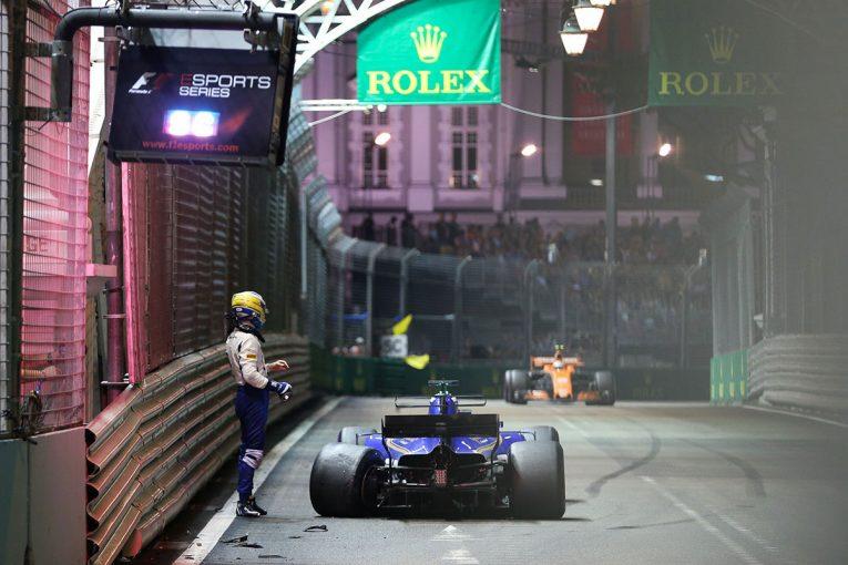 F1 | エリクソン「わずかに限界を超えてスピンしてしまった」:ザウバー F1シンガポール日曜
