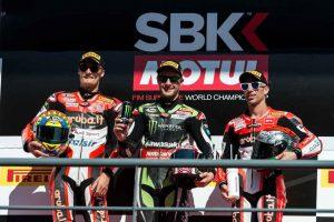 2017年SBK第10戦ポルトガル レース1表彰台