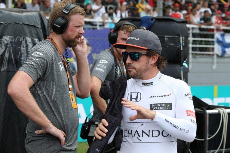 F1 | アロンソ「不運はここで打ち止めに。ホンダの地元、鈴鹿で必ずや入賞を」マクラーレンF1 マレーシア日曜