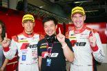 スーパーGT   スーパーGT:チーム初ポール獲得の柳田「新品タイヤを組んでとチームにお願い」/GT300会見