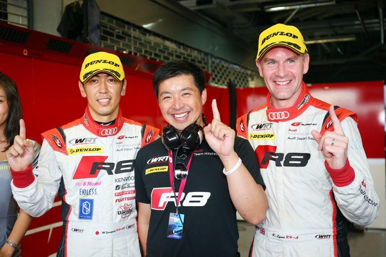 スーパーGT | スーパーGT:チーム初ポール獲得の柳田「新品タイヤを組んでとチームにお願い」/GT300会見