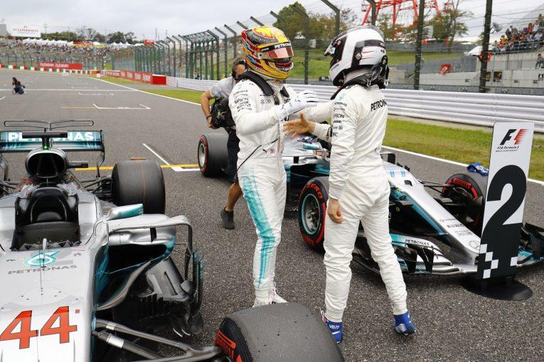 F1 | ボッタス2位「速さを取り戻しつつある。降格が残念だが戦略を活用して戦う」:メルセデス F1日本土曜