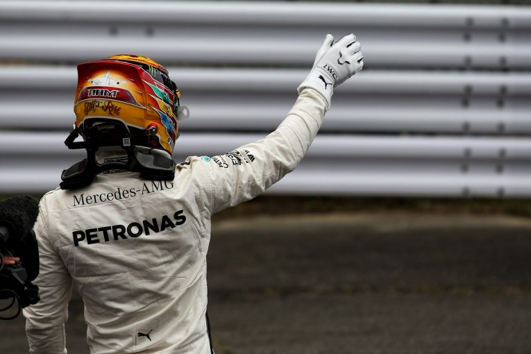 F1 | ハミルトン、鈴鹿初ポールに感無量「何年も挑戦し続けた。この瞬間をどれほど待っていたか」メルセデスF1