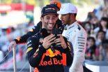 F1 | 【F1日本GP特集】SNSまとめ:表彰台でリカルドがハミルトンのスマホを乗っ取り! 琢磨登場に王者興奮
