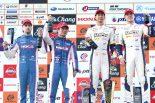 優勝した平川亮/ニック・キャシディ(右)と2位に入った大嶋和也/アンドレア・カルダレッリ