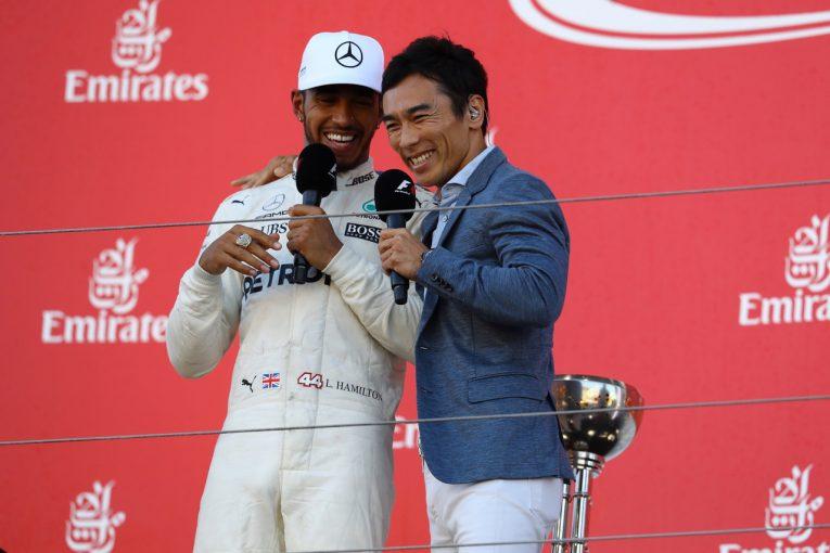 F1   鈴鹿凱旋に予想以上の歓迎を受けた琢磨。インディ500チャンピオンリングにハミルトンも大興奮