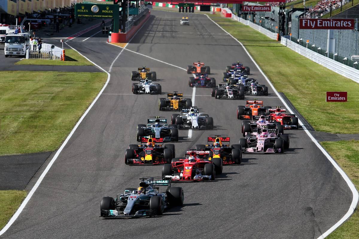 2017年F1第16戦日本GP決勝スタート