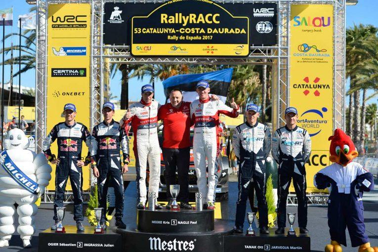 優勝したクリス・ミーク(シトロエンC3 WRC)