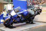 MotoGPライダーのバンク角を実感できる撮影コーナーも