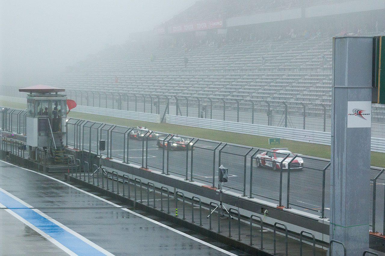 WEC富士:チェッカーまで残り1時間30分でふたたび濃霧襲来。決勝レースは2度目の赤旗中断