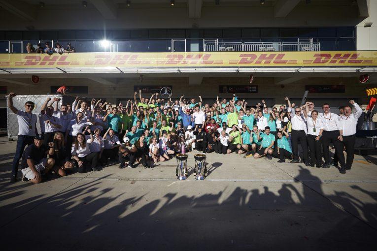 F1 | メルセデスF1、4季連続でコンストラクターズタイトル獲得。「チーム全員の功績」とウォルフ