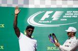 F1 | SNS特集F1アメリカGP:ピンクカラーに染まった週末。ウサイン・ボルト登場でライコネンが笑顔