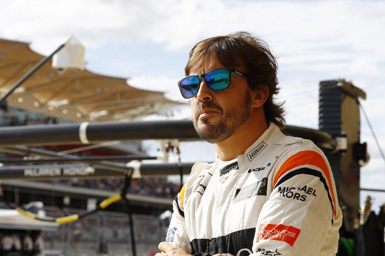 2017年F1第17戦アメリカGP フェルナンド・アロンソ(マクラーレン・ホンダ)